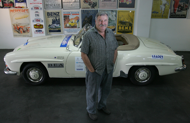 050210 - News - Photo: Ben Campbell/East and Bays Courier. Garry Boyce for Classic Car show.