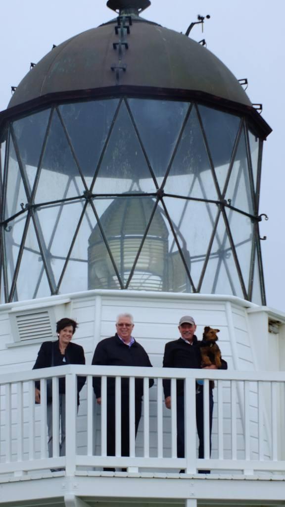 Lesley, Stuart and Ken enjoying Lighthouse views