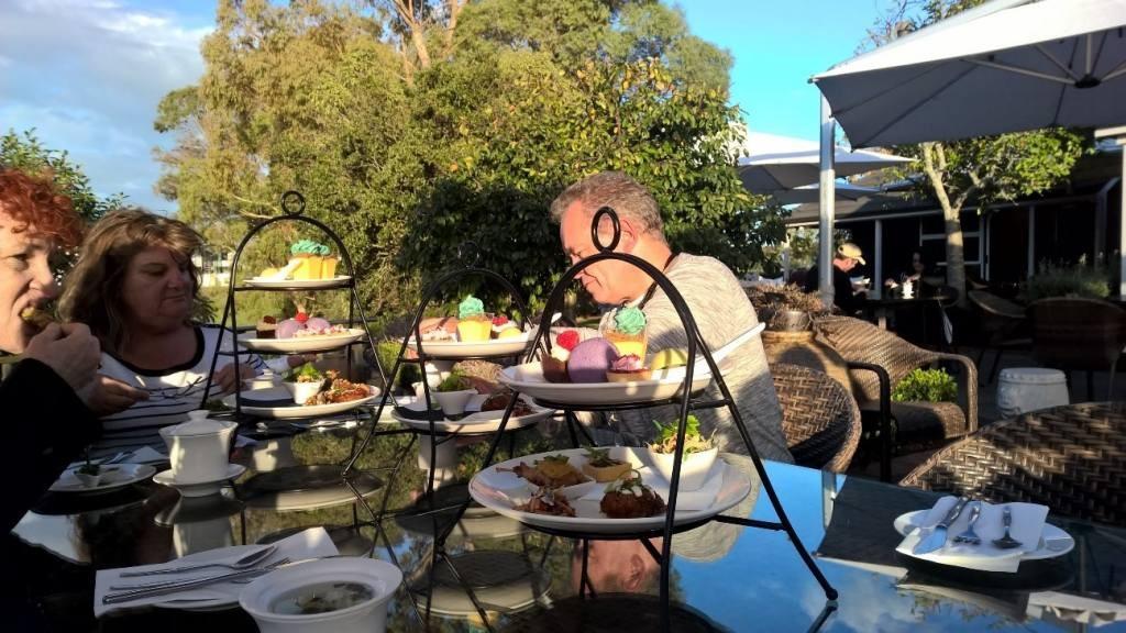 Daryl, Janine and Barbara enjoying high tea