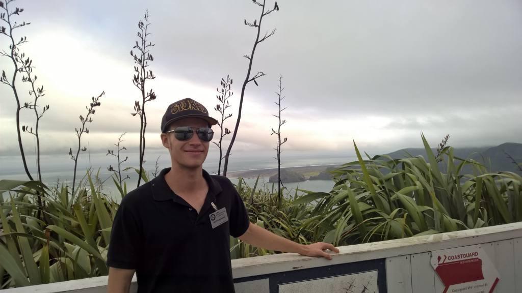 Gerrit enjoying Manakau Heads views