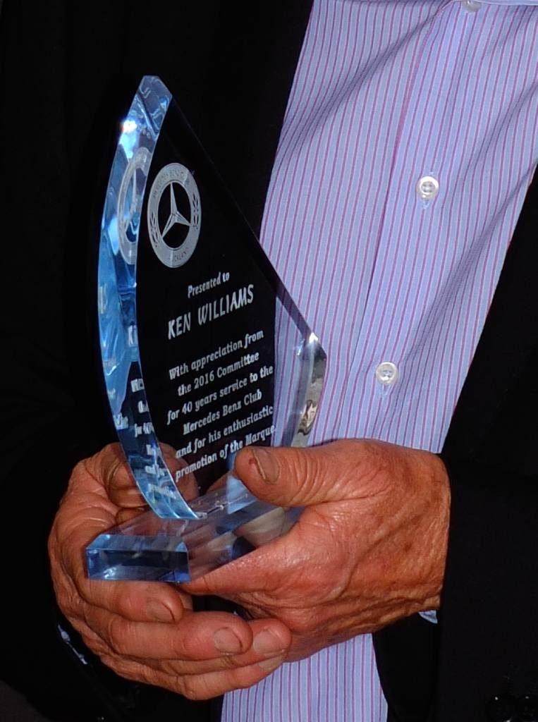 Ken's special appreciation trophy - 40 years