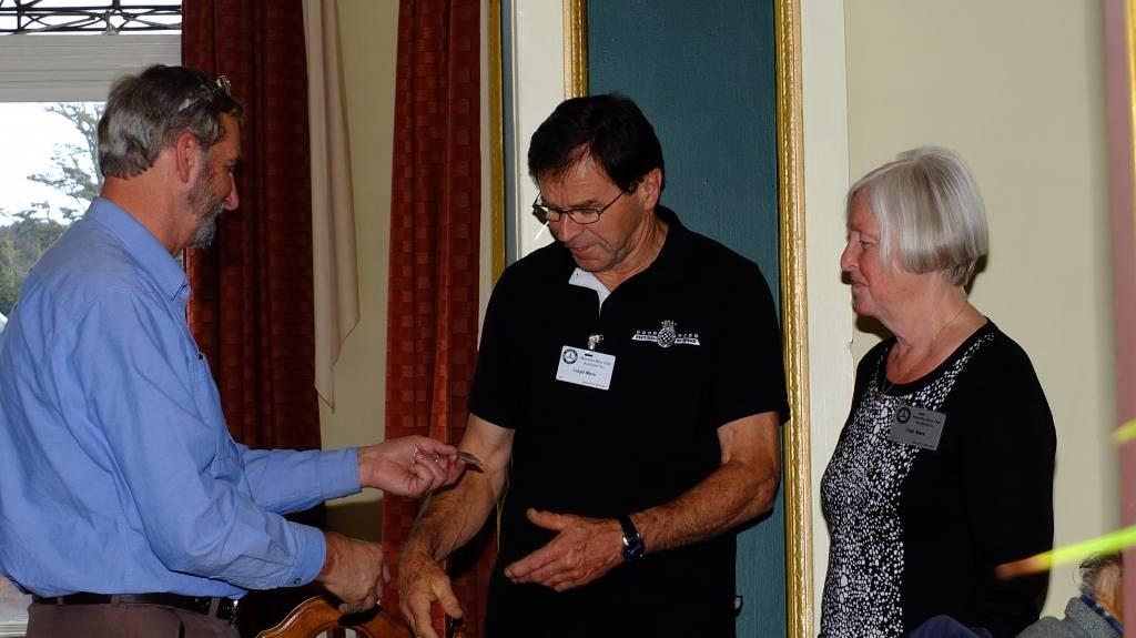Lloyd & Trish receiving 25 year pins.