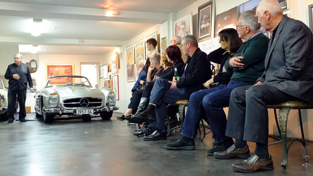 Garry presenting his 300SL Roadster