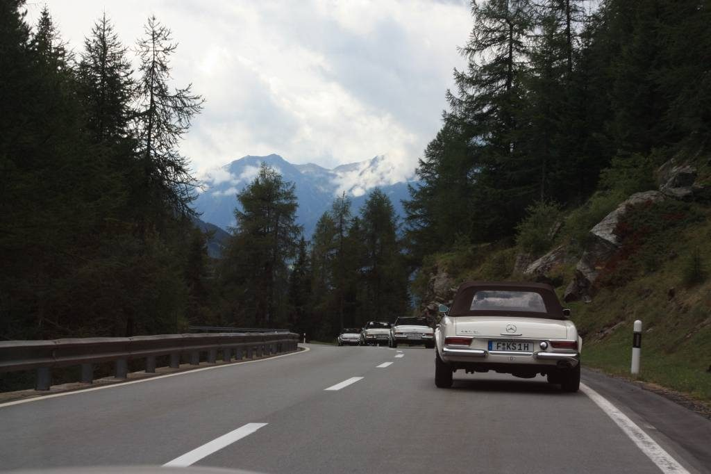 Driving the Swiss Alps