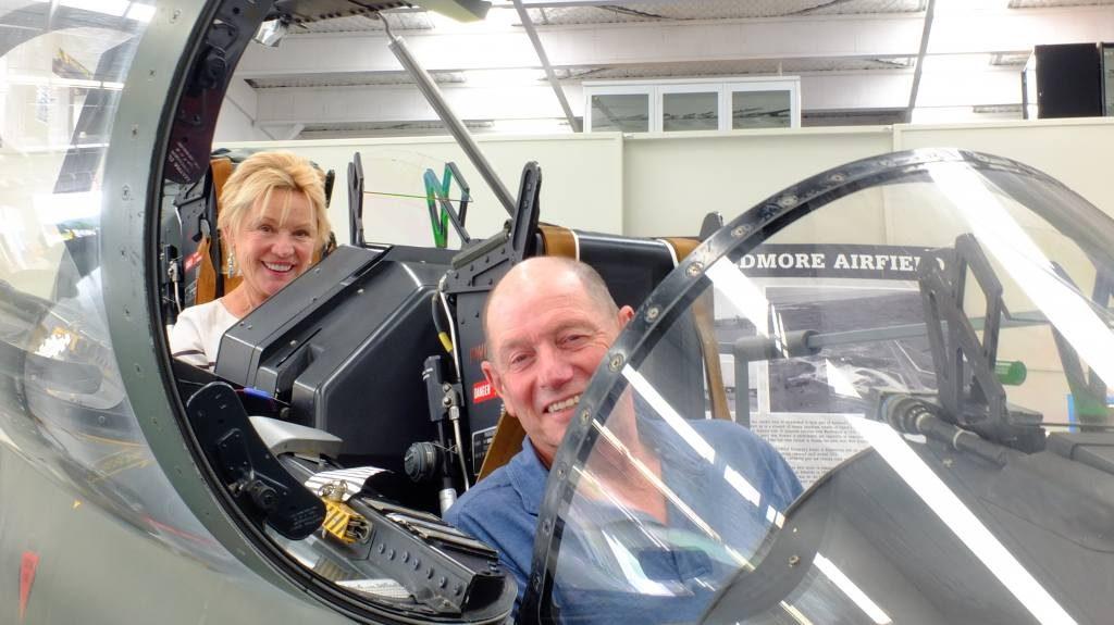 Ken & Noeline, Pilot in the front, hostess in the back