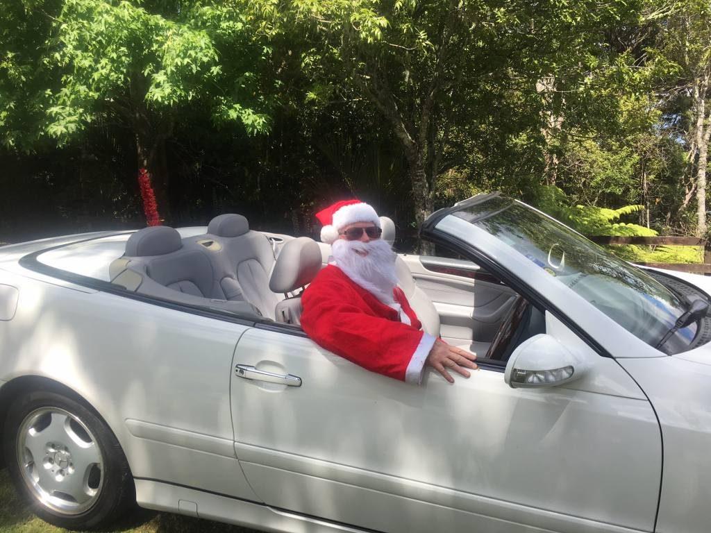 Santa arrives in style (aka Chris Haliday)
