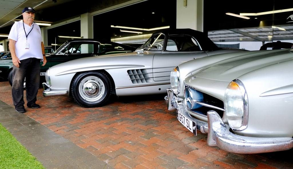 Garry and his matching 350SLs